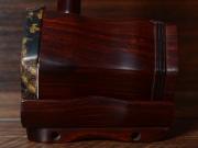 龙韵珍品自然蟒皮印度小叶紫檀整杆二胡10901 闲居吟